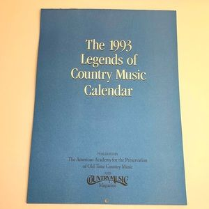 Vtg 1993 Legends Country Music Magazine Calendar